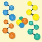 Infographics redondo colorido del diagrama Fotografía de archivo