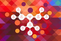 Infographics redondo colorido del diagrama de Metaball Imágenes de archivo libres de regalías