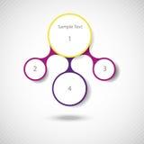 Infographics redondo colorido del metaball del diagrama ilustración del vector