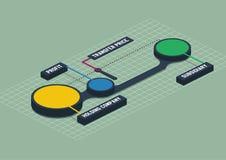 Infographics redondo del metaball isométrico colorido 3d stock de ilustración