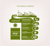 Infographics renewable nature Stock Images