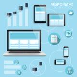 Infographics responsivo del diseño web Imágenes de archivo libres de regalías