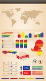 Infographics retro Imágenes de archivo libres de regalías