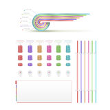 Infographics retro set. In colored variations Stock Photography