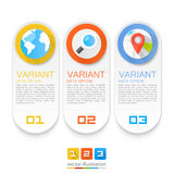 Infographics rewizi lokacje Obraz Stock