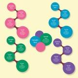 Infographics rotondo variopinto del diagramma di Metaball Immagini Stock Libere da Diritti