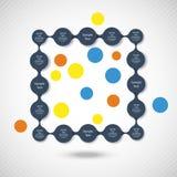 Infographics rotondo variopinto del diagramma di Metaball Fotografia Stock