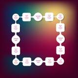 Infographics rotondo variopinto del diagramma di Metaball Immagine Stock Libera da Diritti