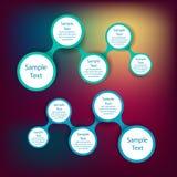 Infographics rotondo variopinto del diagramma di Metaball Immagini Stock