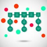 Infographics rotondo variopinto del diagramma di Metaball Immagine Stock