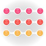 Infographics rotondo variopinto del diagramma di Metaball Fotografia Stock Libera da Diritti
