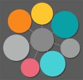 Infographics, round rama dla teksta koloru ilustracja wektor