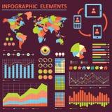 Infographics samling Arkivfoto