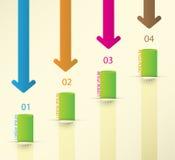 Infographics-Satz der unterschiedlichen Art. Vektor Stockfotos
