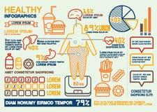 Infographics saudável Fotos de Stock Royalty Free