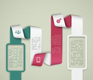 Infographics-Schablone Stockbilder