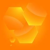 Infographics-Schablone-Plan-Darstellung-Hexagon-leer Stockbild