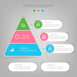 Infographics-Schablone von drei Schritten auf Quadraten Lizenzfreies Stockfoto