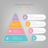 Infographics-Schablone von vier Schritten auf Quadraten Lizenzfreie Stockbilder