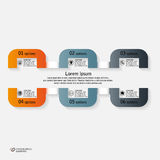 Infographics-Schritte Stockfotografie