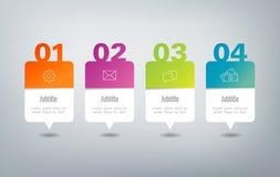 Infographics - 4 Schritte Stockfoto