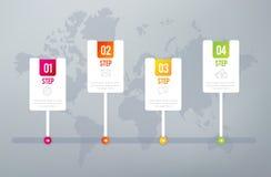 Infographics 4 Schritte vektor abbildung