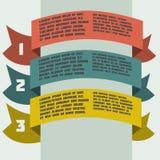 Infographics semplice di colore con le insegne Fotografia Stock Libera da Diritti