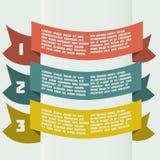 Infographics semplice di colore con le insegne piegate Fotografia Stock Libera da Diritti