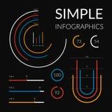 Infographics semplice, insieme dell'illustrazione di vettore Modello per l'opuscolo, affare, web design royalty illustrazione gratis