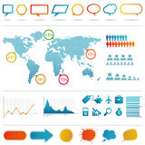 Infographics set. Stock Photos
