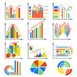 Infographics set elements, chart, circles Stock Photography