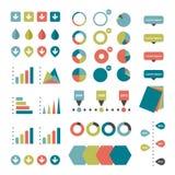 Infographics set elements. Collection of charts, diagrams, schemes, speech bubbles. Vector Stock Photos