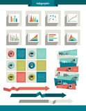 Infographics set elements. Vector collection Royalty Free Stock Photo