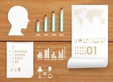 Infographics set i informaci edukacja pojęcie Zdjęcie Stock
