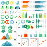 Infographics Set. Set of infographic elements.  Eps10 file with transparency Royalty Free Stock Images