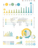 Infographics set and Information Graphics.  Stock Image