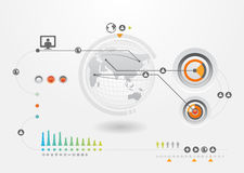 Infographics set and Information Graphics.  Royalty Free Stock Photo