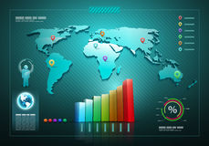 Infographics set and Information graphics Stock Images