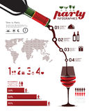 Infographics set and Information party Graphics Stock Photos