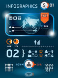 Infographics set and Information technology Stock Photos
