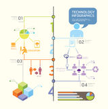 Infographics set and Information technology Graphics Royalty Free Stock Photos