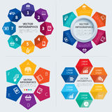 Infographics set templates Royalty Free Stock Photography