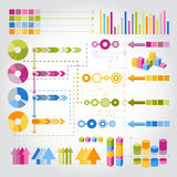 Infographics set. Set of universal infographics symbols in 4 colors Royalty Free Stock Image