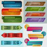 Infographics-12. Set of Vector illustration infographic template with step. Colorful bookmarks and banners for text Royalty Free Stock Image