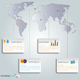 Infographics set and world map.Vector/Illustration. Royalty Free Stock Photo