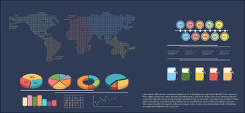 An infographics showing a map Stock Photography