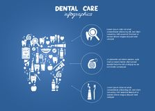 Infographics simple del cuidado dental Fotografía de archivo libre de regalías
