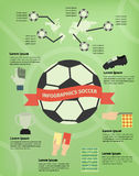 Infographics soccer Stock Photos