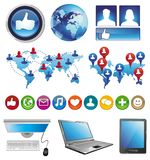 Infographics social media design elements Stock Image