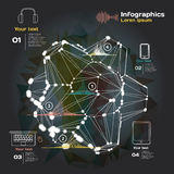 Infographics with sound waves on a dark background Stock Photo